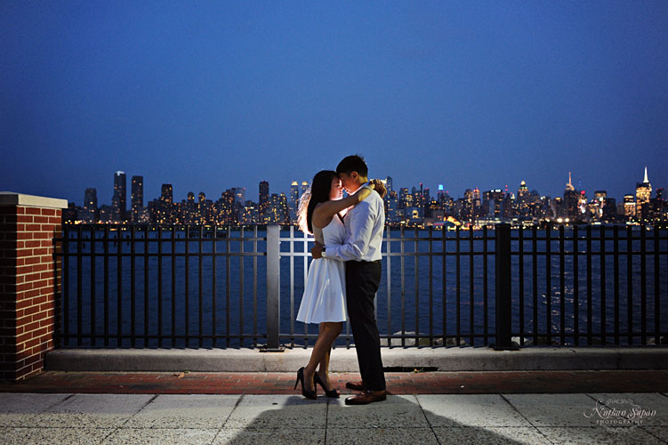Engagement shoot Hoboken Waterfront NJ1