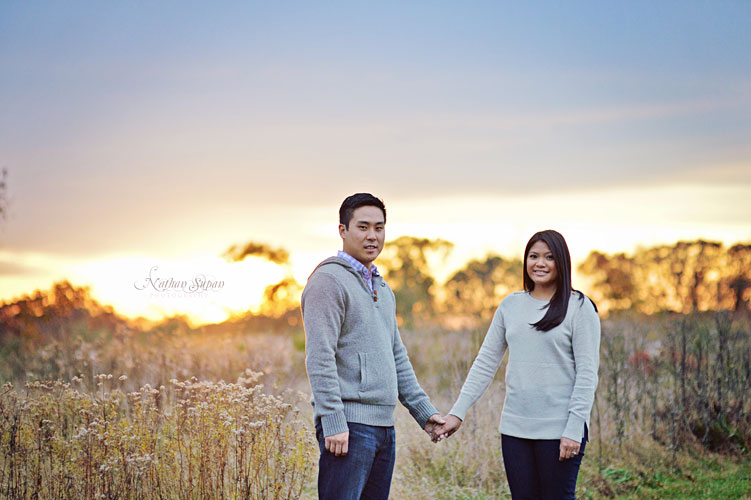 Engagement shoot Natinar Park Peapack NJ