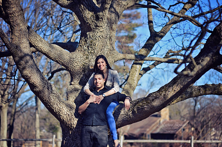 Engagement shoot Rutgers Garden New Brunswick NJ