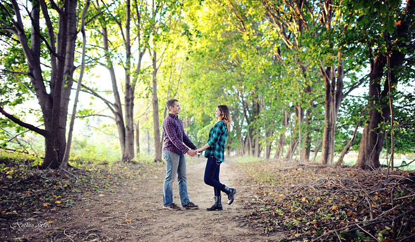 Engagement shoot Thompson Park Lincroft NJ